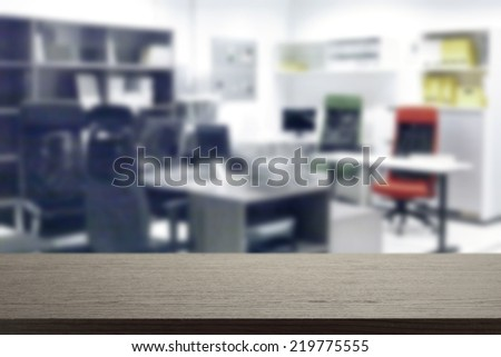 office and black desk  - stock photo