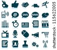 Office and communication icon set. Raster version. - stock photo
