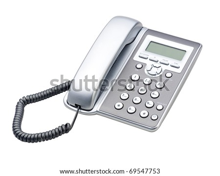 office and home telephone - stock photo