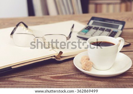 office and library - stock photo