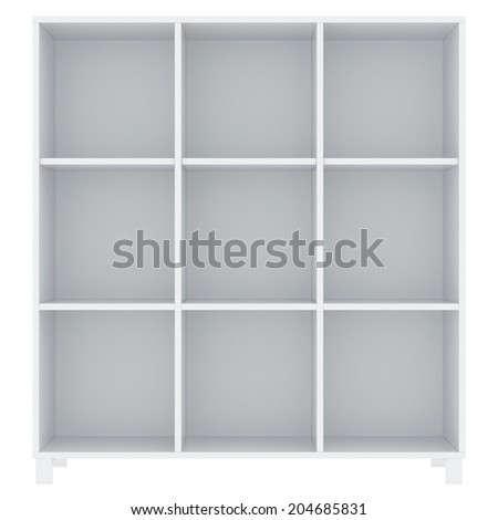 office archives cabinet. isolated on white background