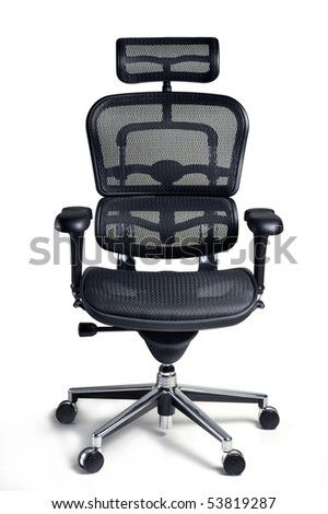 Office armchair for boss isolated on white background, clipping path