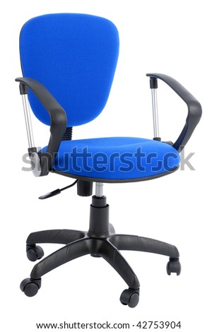 office armchair isolated on white - stock photo