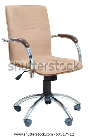Office armchair isolated on white background. With Clipping Path - stock photo