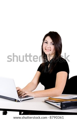 Office assitant - stock photo