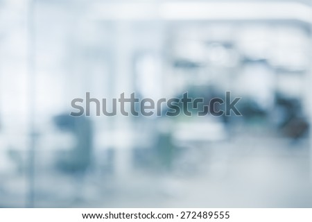 Office background - blurred and defocused - ideal for presentation background.  - stock photo