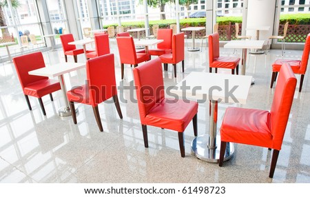 office bar with many chairs and table. - stock photo