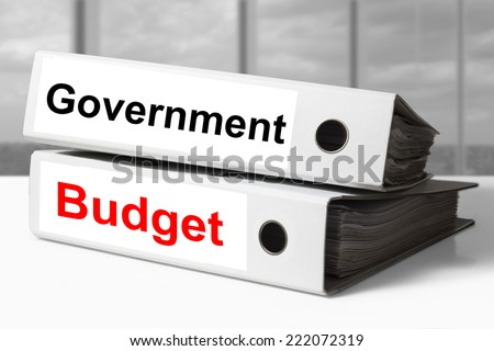 office binders government budget - stock photo