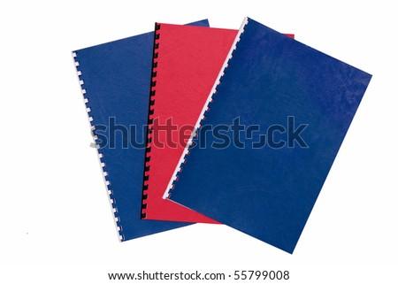 Office binders - isolated - stock photo
