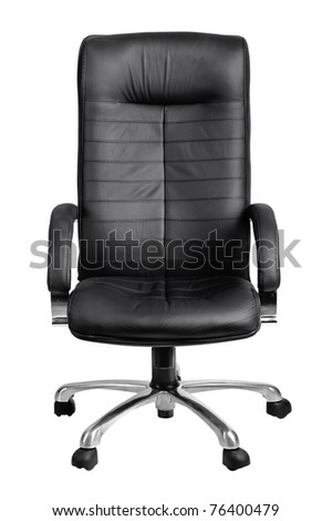 Office black armchair isolated on white background - stock photo