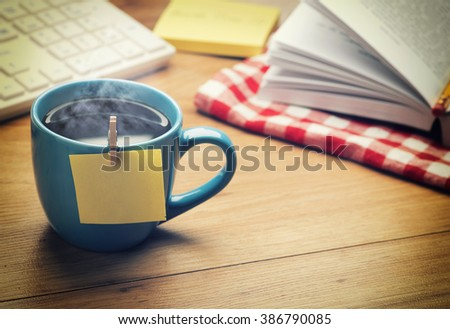 Office Break Time with coffee Concept - stock photo