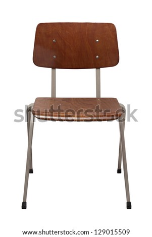 Office Brown chair isolated on white