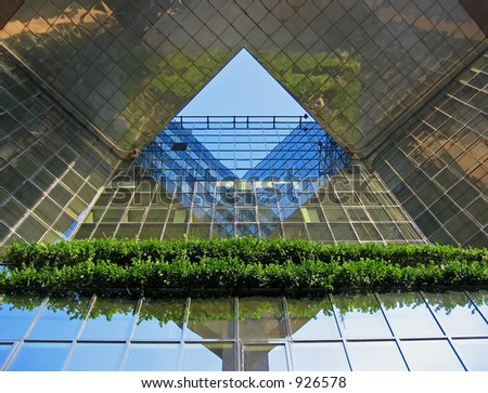 Office building at Canary Wharf, London - stock photo