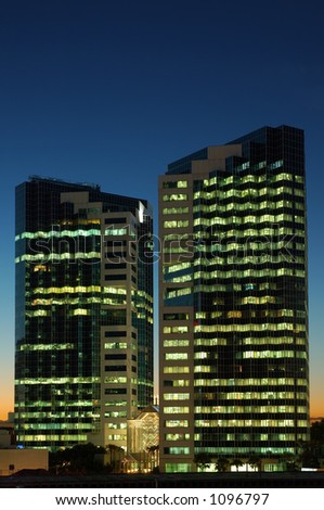 Office Building at Night - stock photo