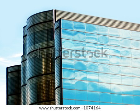 Office Building at Sunrise - stock photo