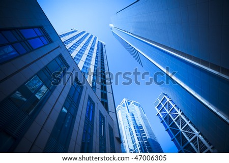 office building background,landmark of shanghai china. - stock photo