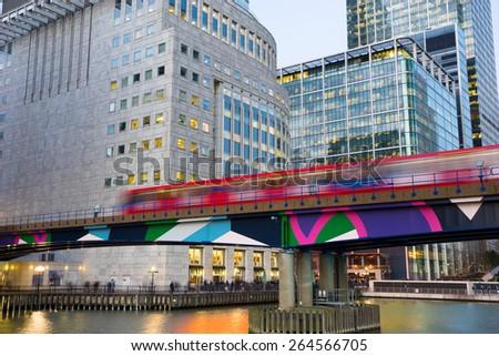 Office building  Canary Wharf, London - stock photo