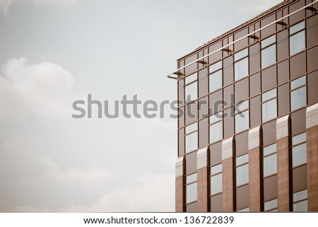 office building - colorized photo - stock photo