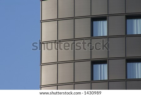 office building, four windows