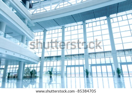 office building hall - stock photo