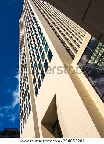 Office building in Frankfurt, Germany, one of the most fascinating financial areas of Europe - stock photo