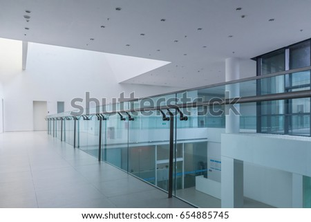 hallway office. office building interior and hallway e