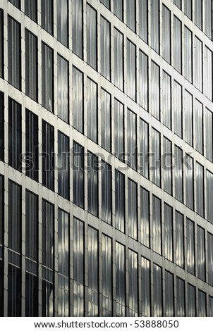 Office Building Reflections - Sails in Windows