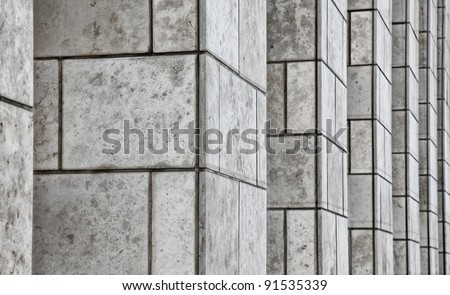 Office Building Stone Pillars - stock photo