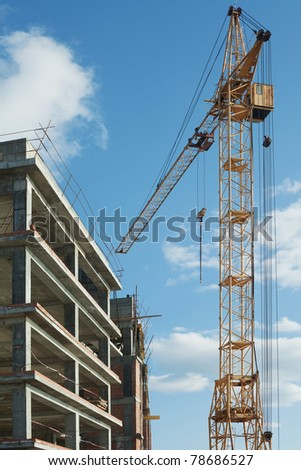 office building under construction - stock photo