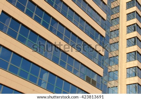 Office building wall background