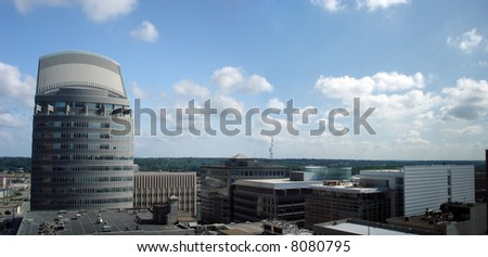 Office Buildings and Skyscrapers in downtown of Des Moines, Iowa - stock photo