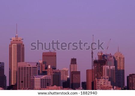 Office Buildings in Evening Light, Sydney, Australia - stock photo