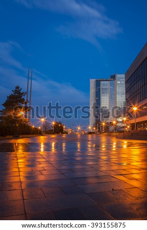 Office buildings in Prague, congress center and hotel corintia, Vysehrad, Prague, Czech Republic - stock photo