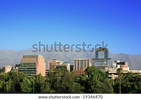 Office buildings in Santiago, Chile