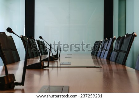 Office business conference room interior - stock photo