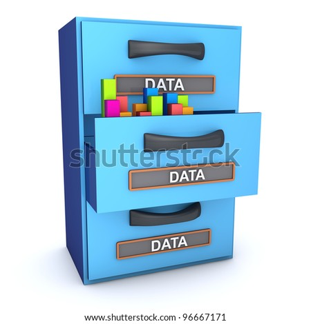 Office cabinet data concept - stock photo