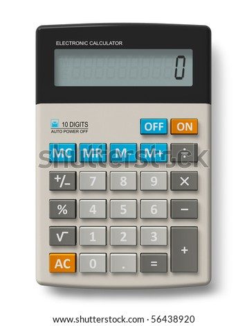 Office calculator - stock photo