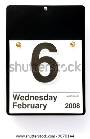 Office Calendar for Ash Wednesday - stock photo