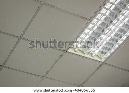 office ceiling office ceiling with white fluorescent fixture near window fluorescent lamp on the ceiling office