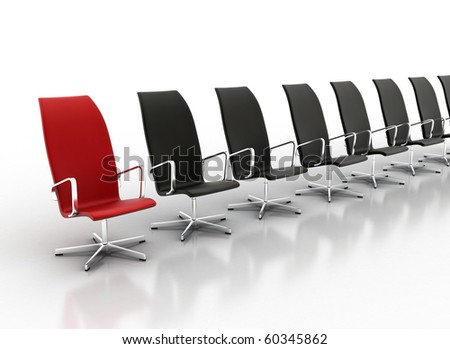Office chair concept isolated on white background - stock photo