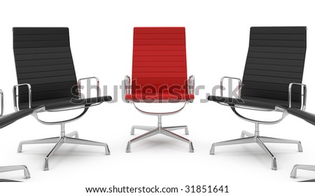 office chair concept on white background - stock photo