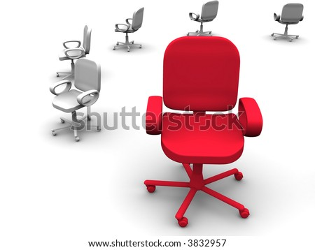 office chair. 3d - stock photo