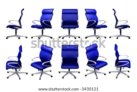 office chair in many difference view
