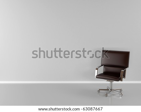 office chair in room - stock photo