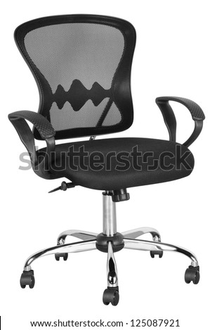 Office chair. Isolated - stock photo