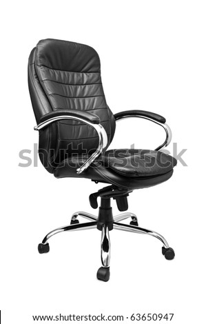 office chair isolated on a white background - stock photo