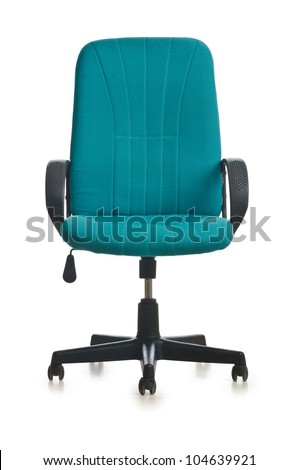 Office chair isolated on the white background - stock photo