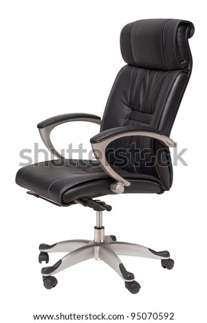 office chair isolated on white - stock photo