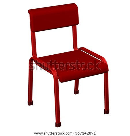 Office chair, isolated on white background.