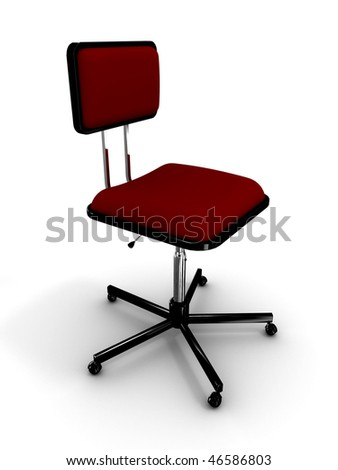 Office chair on white background. 3D